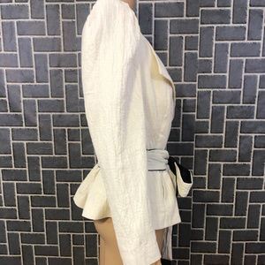 WHO WHAT WEAR Jackets & Coats - WHO WHAT WEAR WMS SZ SMALL IVORY JACKET NWT